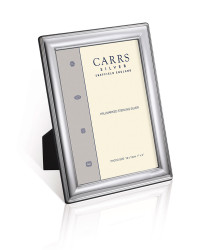 T Series – Rectangle mahogany back sterling silver photo frame