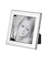 BSQ Series - Classic plain square silver photo frame