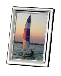 H Series - Classic Concave Rectangle Silver Photo Frame