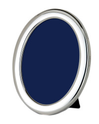 J Series – Classic plain oval silver photo frame