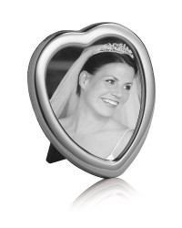 K Series - Classic plain heart shaped photo frame